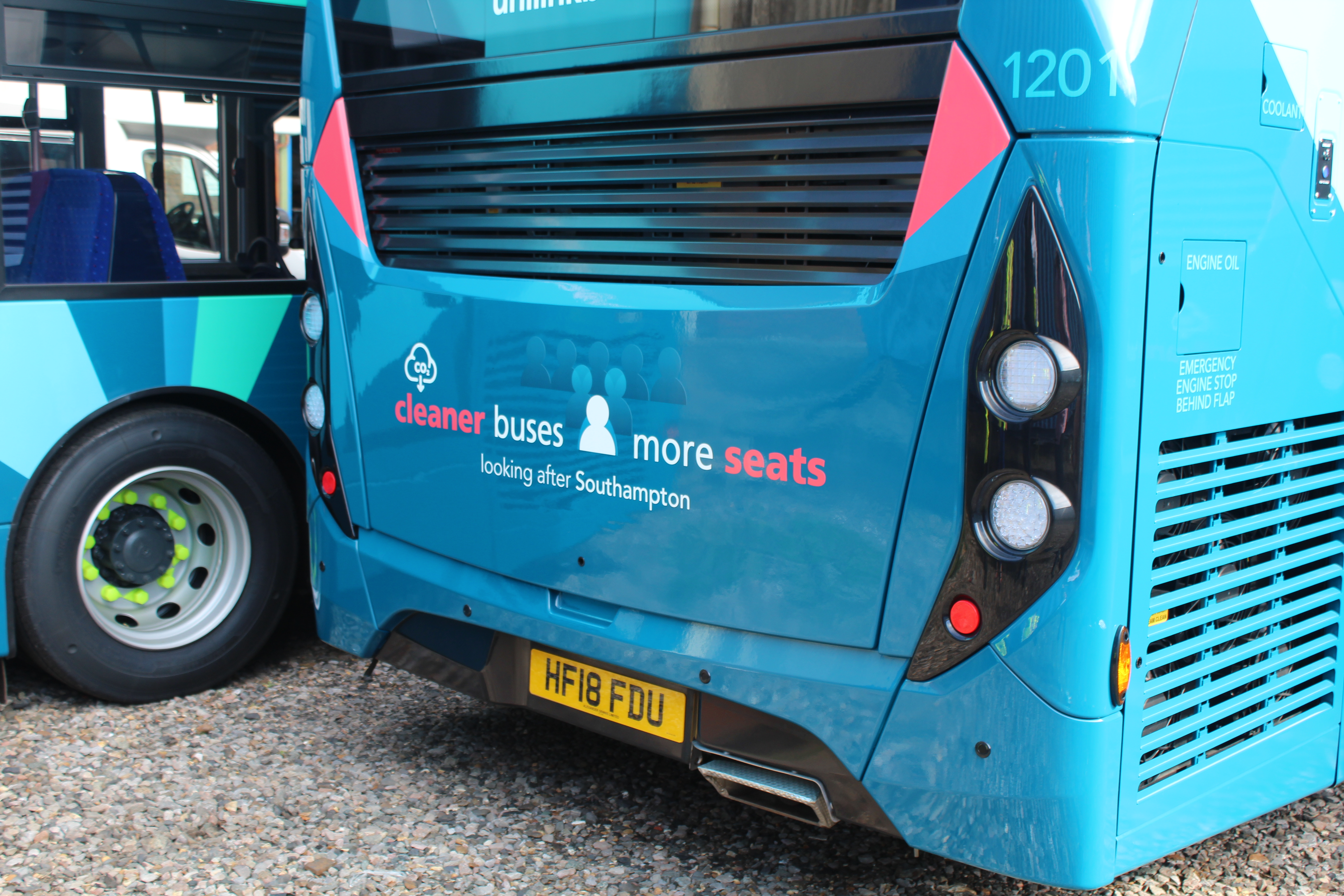 Travel by bus to help improve our city's air quality