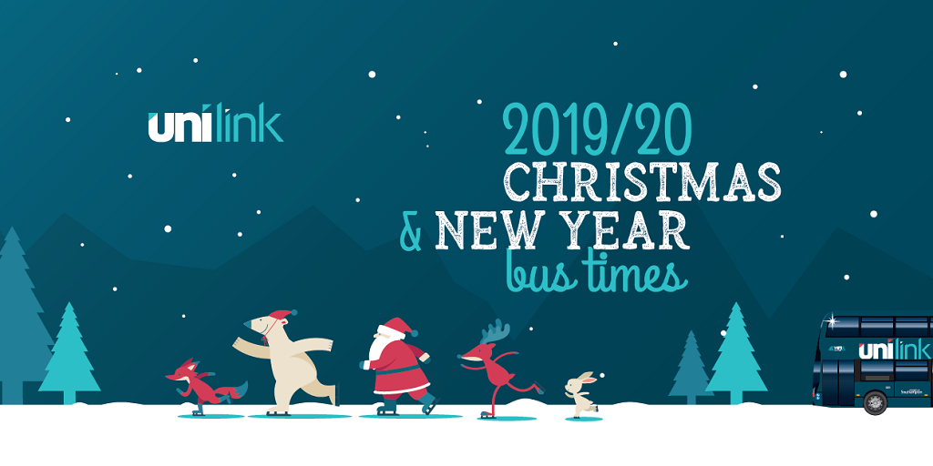 Unilink 2019-20 Christmas and New Year bus times