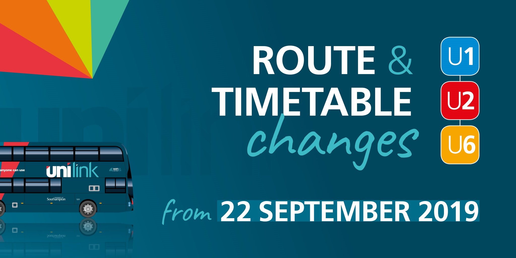 Unilink announces new timetable for its bus services in Southampton
