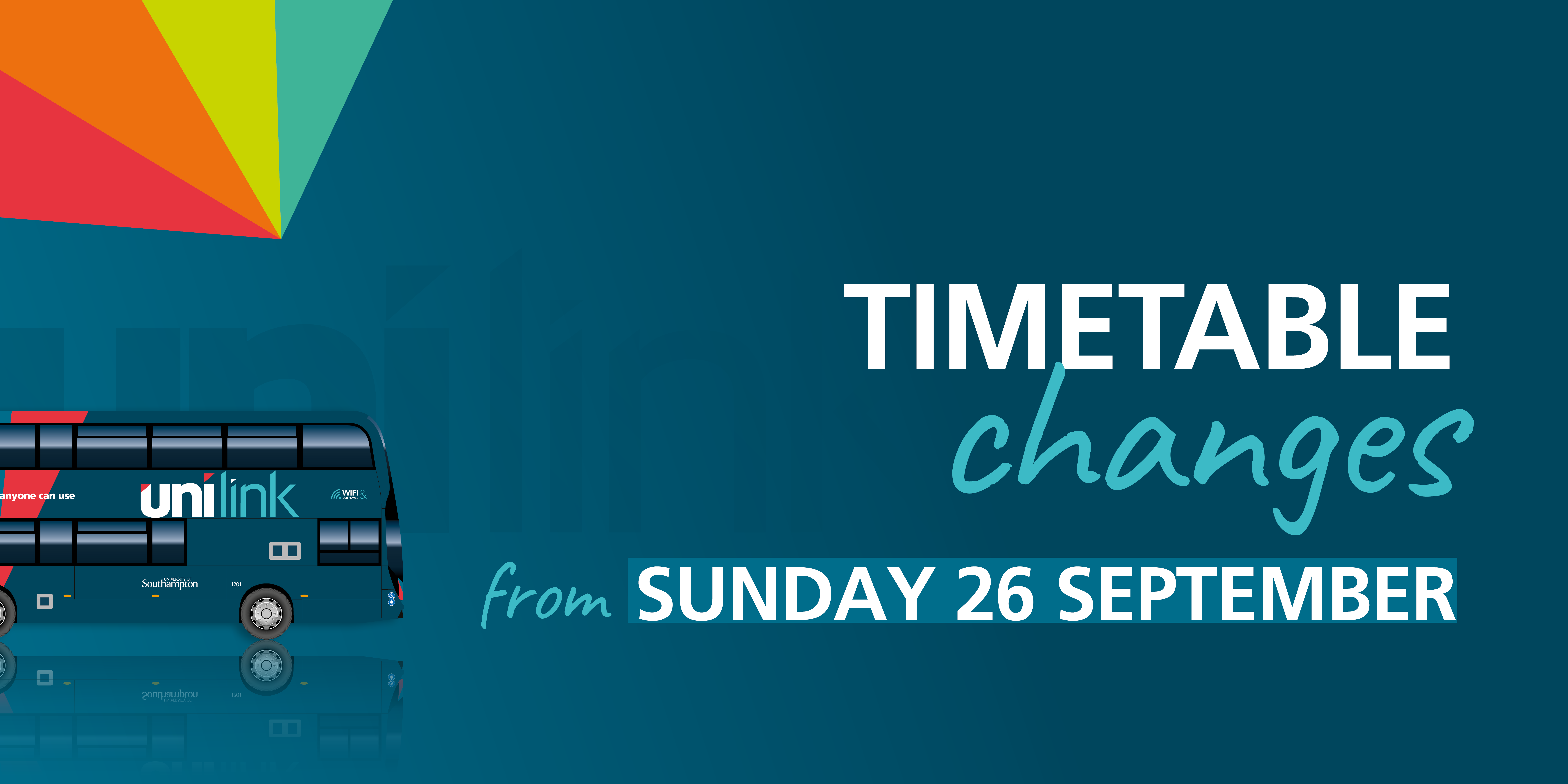 timetable changes from monday 26 september