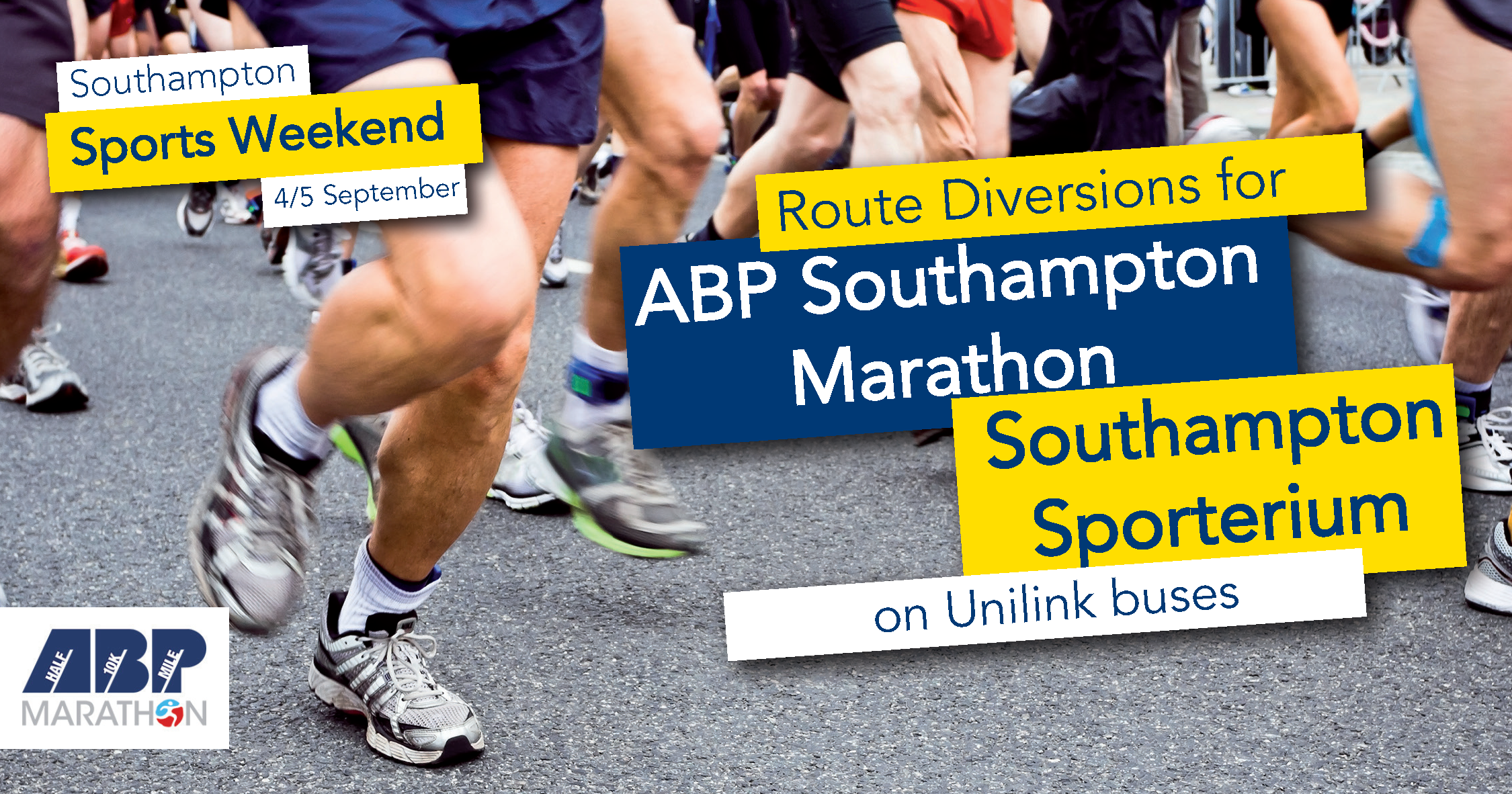 southampton sports weekend 4/5 september route diversions on unilink buses